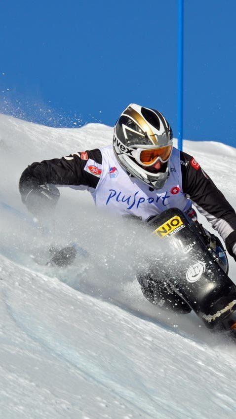 Dietmar Dorn wurde im WC Slalom guter Dritter.