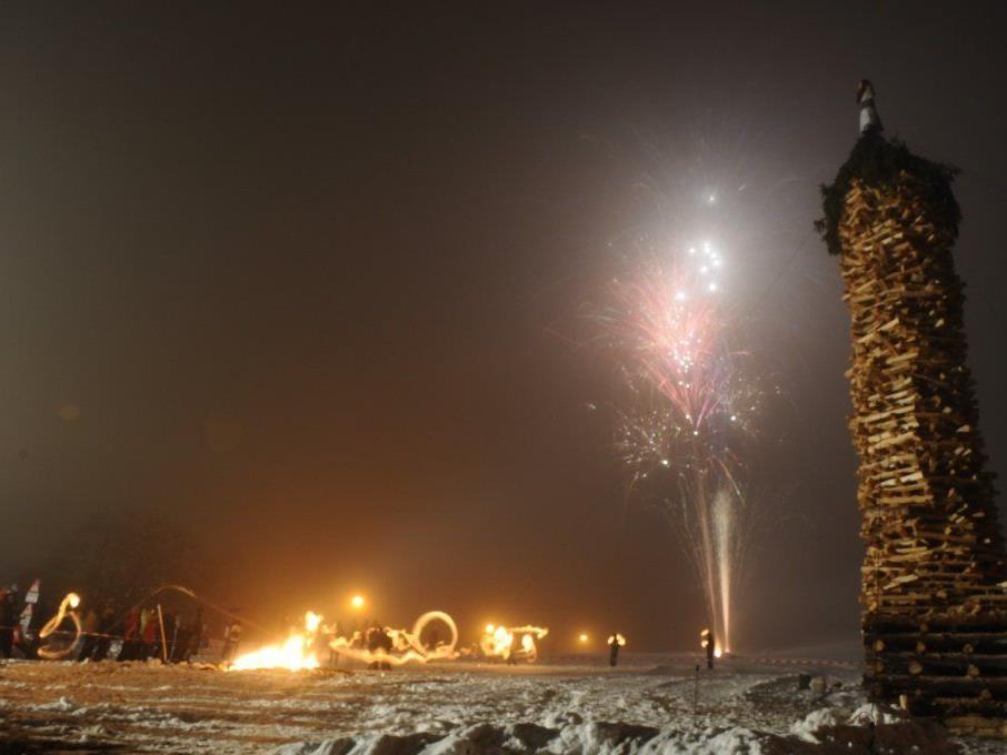 Der Bürserberger Funken wird am Samstag den 08. März abgebrannt.
