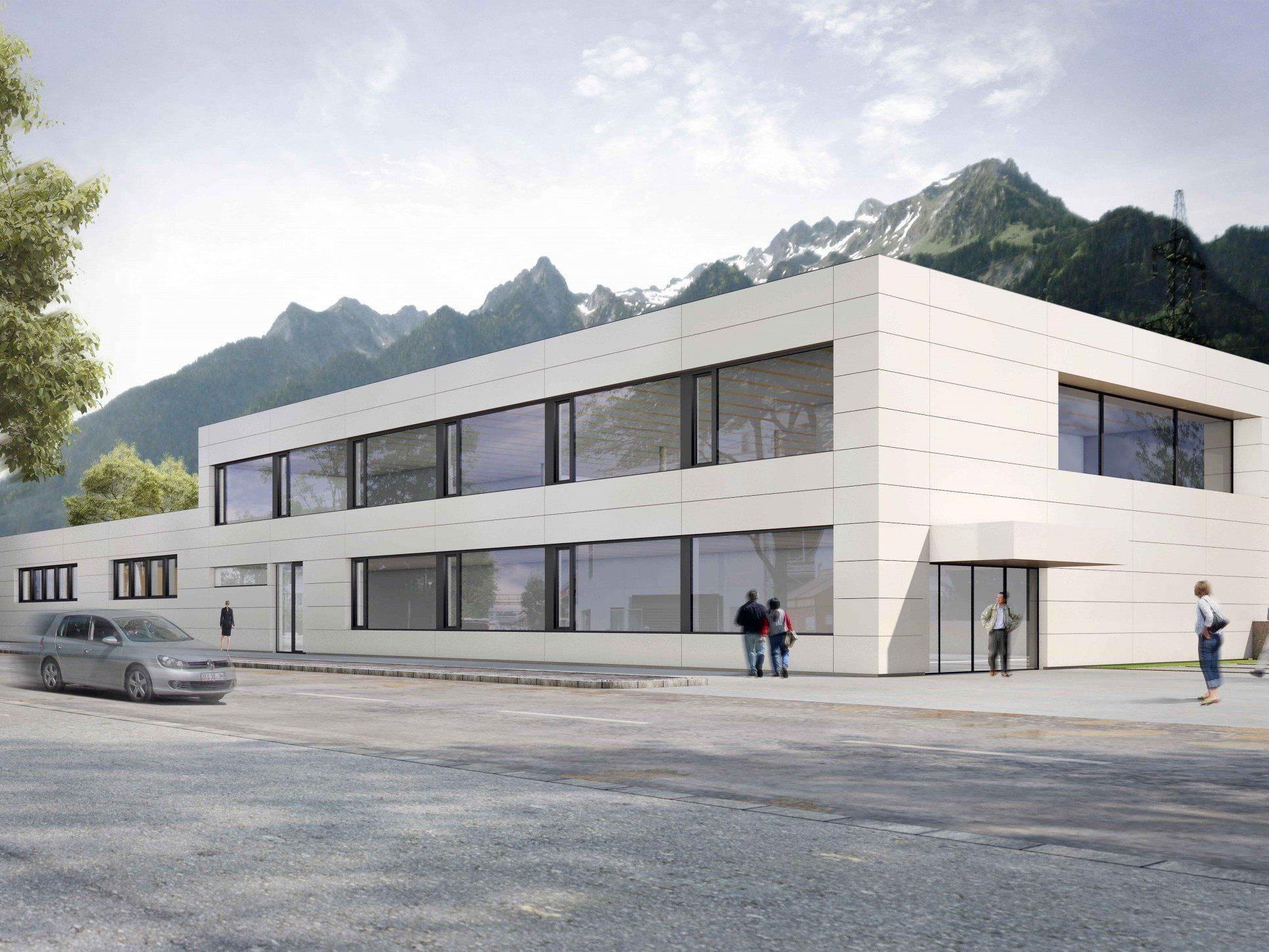 Die Firma Wagner aus Nüziders setzt beim Neubau der Firmenzentrale auf modernste Holz-Beton-Hybrid-Bauweise.