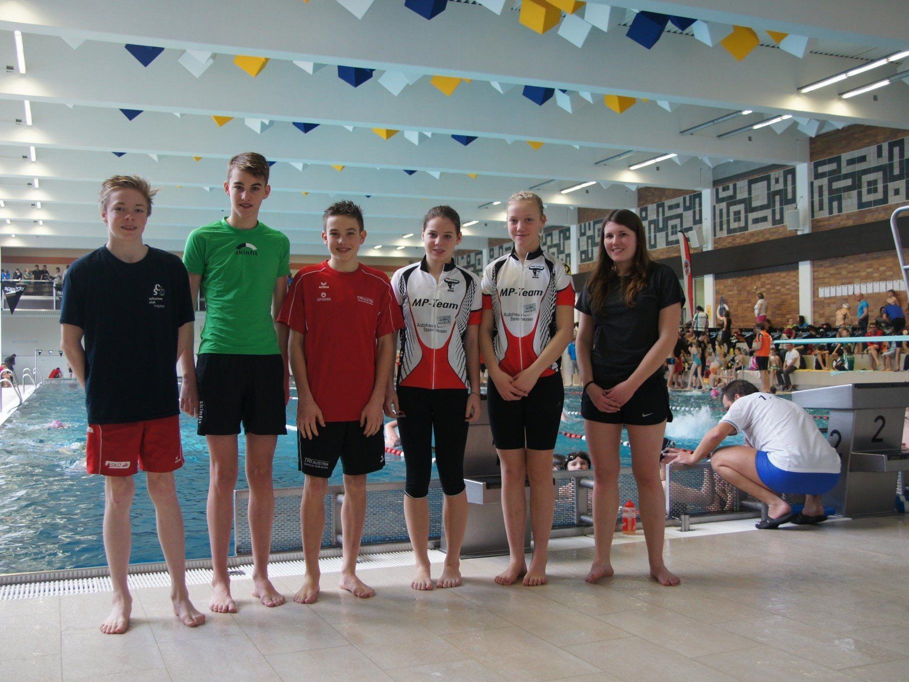 Starker Auftritt der Jungathleten vom MP Dornbirn beim Aquathlon in Linz.