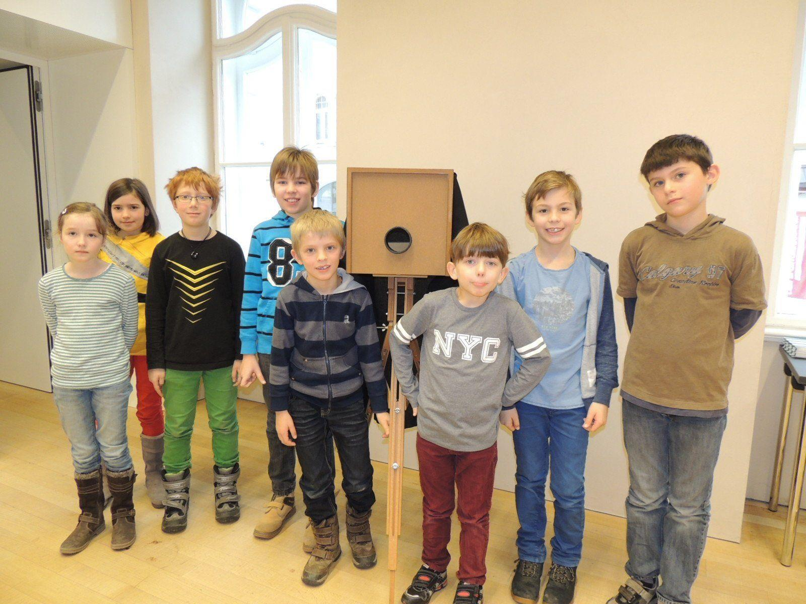 Der Bau einer eigenen Camera Obscura bereitete den jungen Teilnehmern viel Spaß