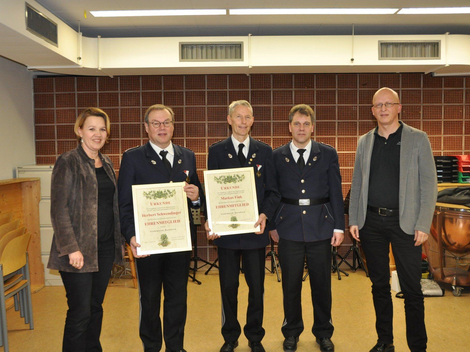 BM Andrea Kaufmann, Herbert Schwendinger, Markus Fink, Obm.Franco Todeschi, Dir. Ivo Warenitsch