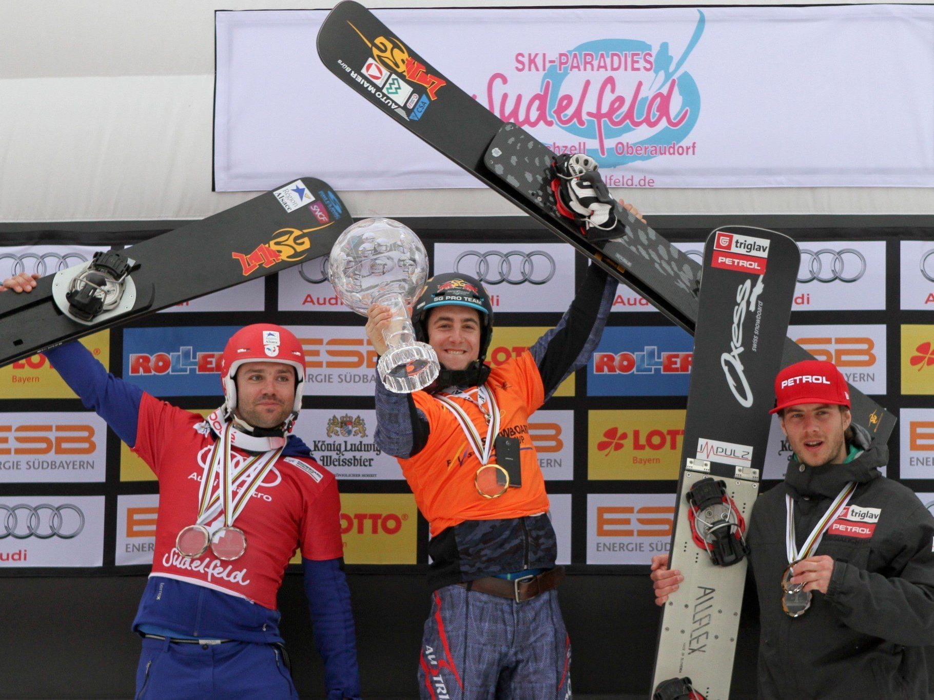 Der Shooting-Star des heurigen Snowboard Alpin-Weltcup-Winters ist Lukas Mathies aus St. Gallenkirch.