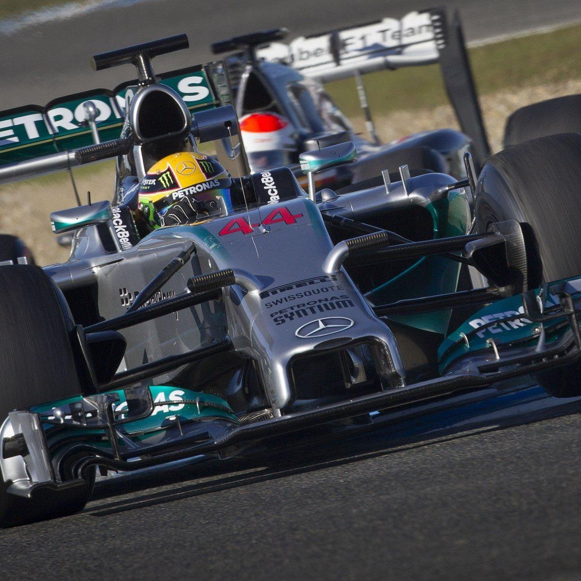 Ab 2014 gibt es in der Formel 1 fixe Startnummern für die Fahrer - Lewis Hamilton hat die 44 gewählt.