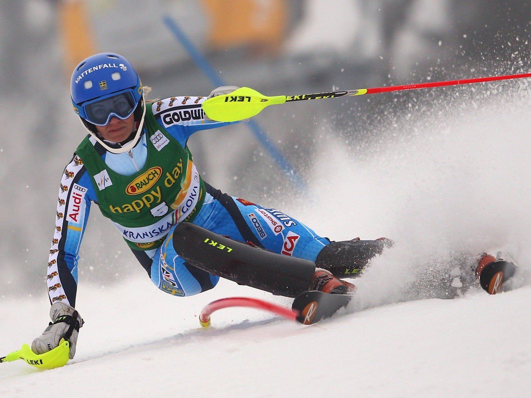 Erster Weltcup-Sieg nach acht zweiten Plätzen für Frida Hansdotter.