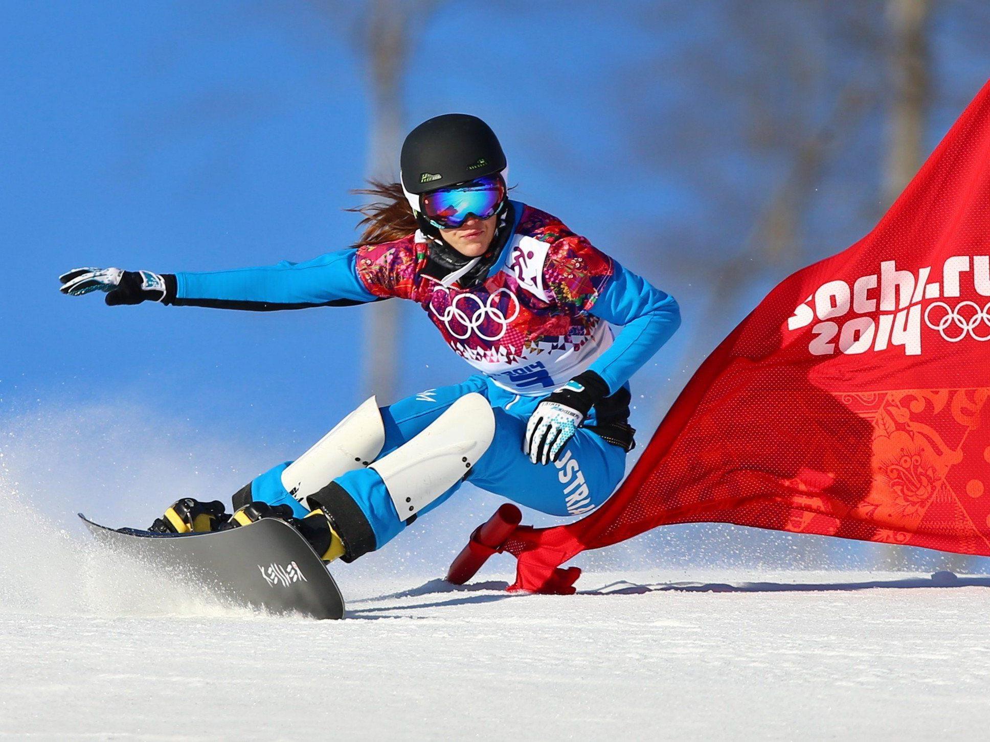 Snowboarderin Dujmovits holte Gold im Parallel-Slalom.