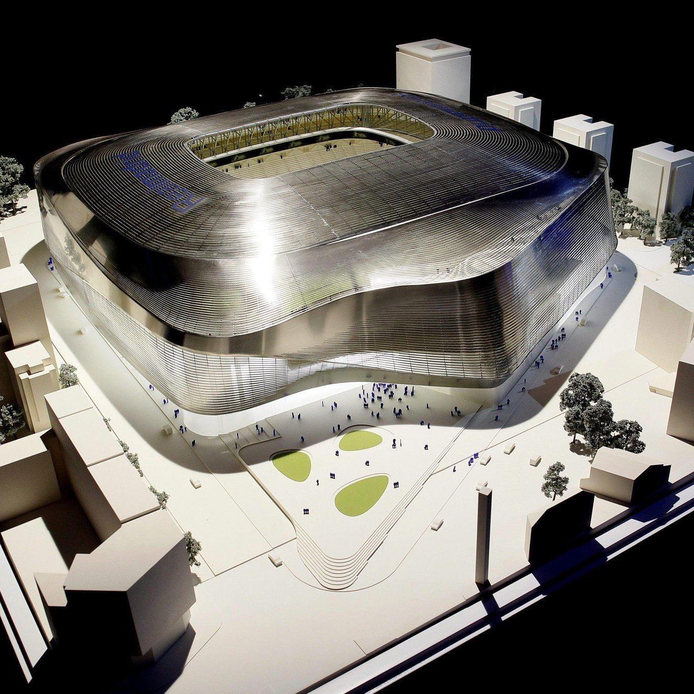 Madrids Bernabeu-Stadion wird komplett umgebaut. Das Vorhaben soll 400 Mio. Euro kosten.