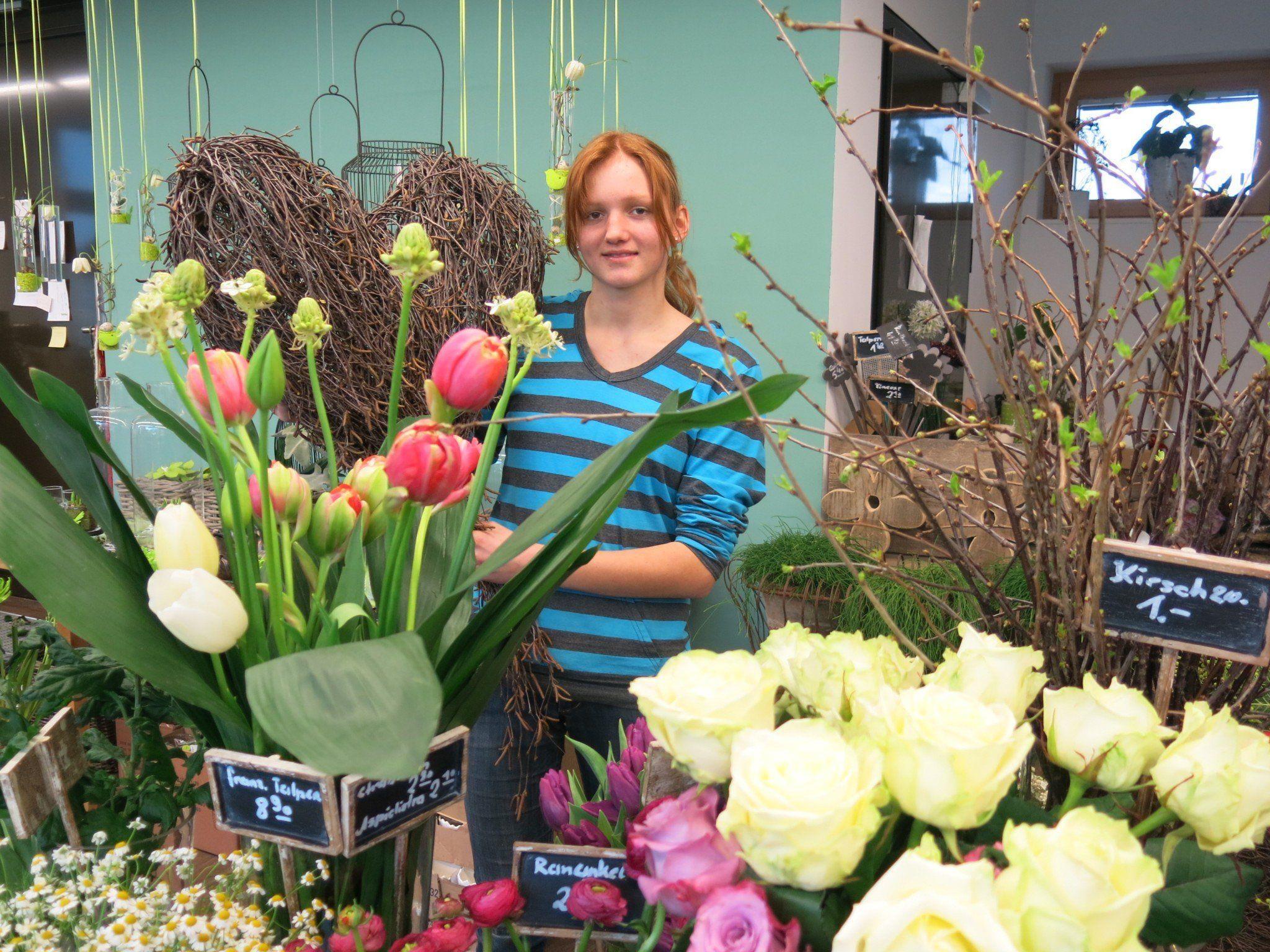 Lena Stecher lebt ihre Kreativität im Lehrberuf der Floristin aus.