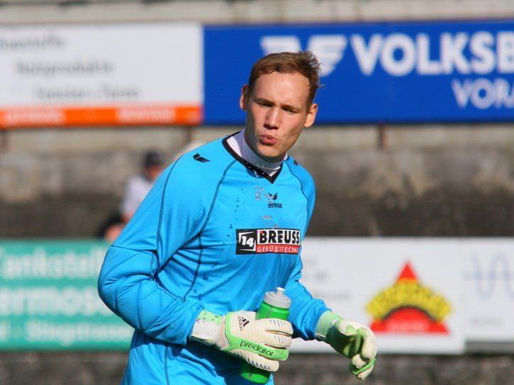 RW Rankweil-Tormann Markus Breuss wird gegen Dornbirner SV eine Halbzeit lang im Tor stehen.