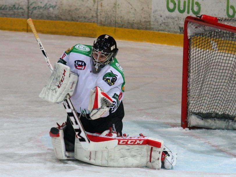 EHC Lustenau Goalie Heikki Tuomisto konnte die Niederlagen auch nicht verhindern.