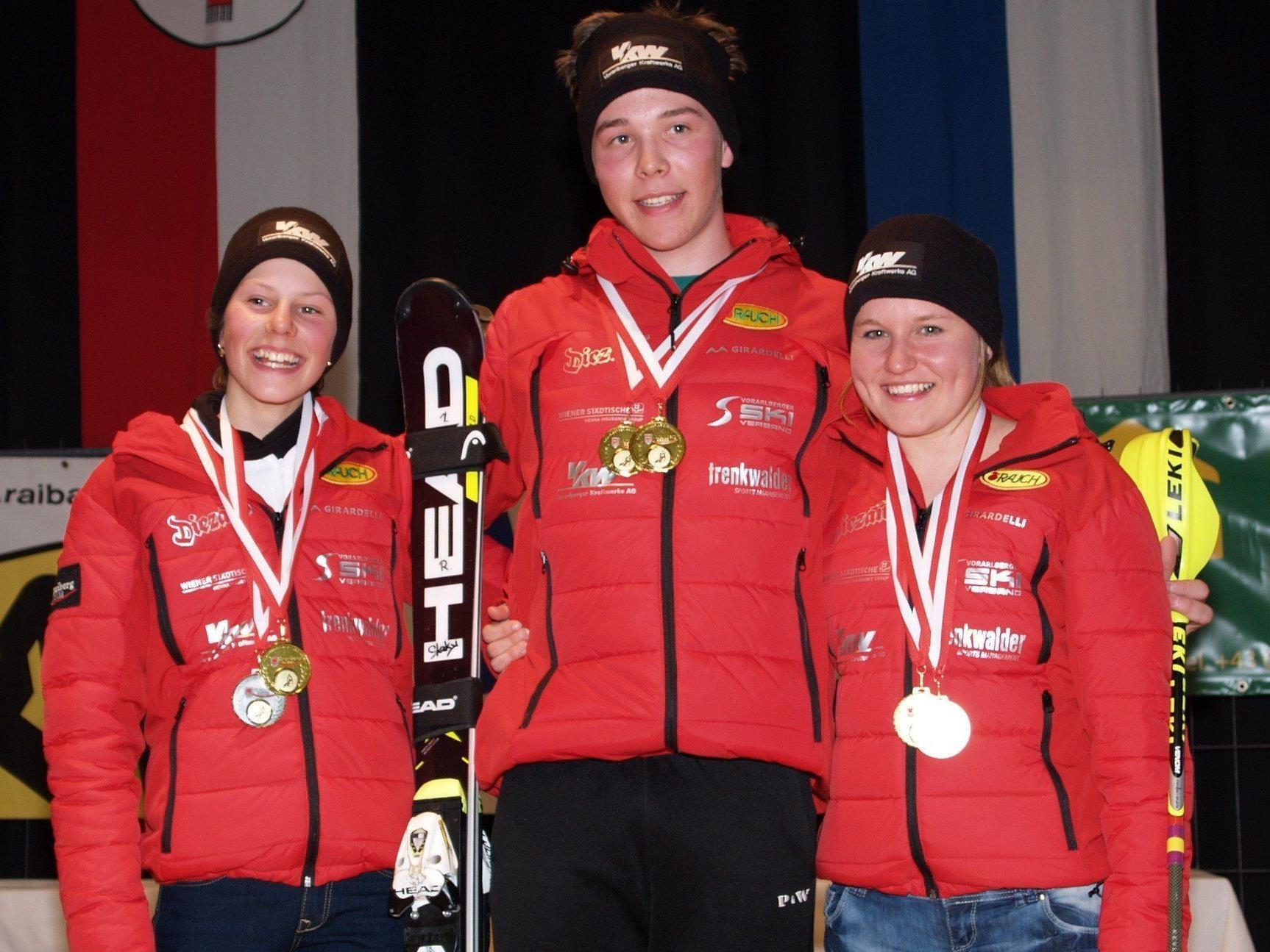 Magdalena Kappaurer, Philipp Stockhammer und Vanessa Nussbaumer waren die großen Gewinner in Sonntag.