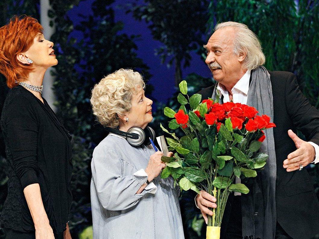 """Judy Winter, Chariklia Baxevanos und """"Rosenkavalier"""" Achim Wolff."""