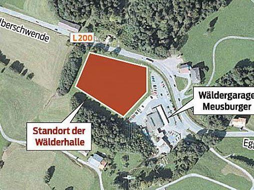 Hier sollte die Wälderhalle ursprünglich entstehen.