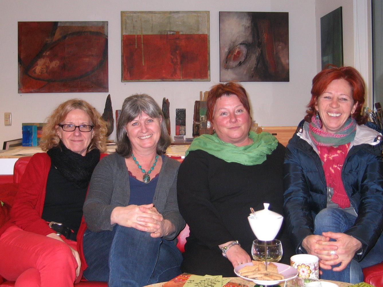 Tatkräftige Damen: Dagmar Ullmann-Bautz, Petra Rohner-Menia, Katharina Waibel und Birgit Zudrell