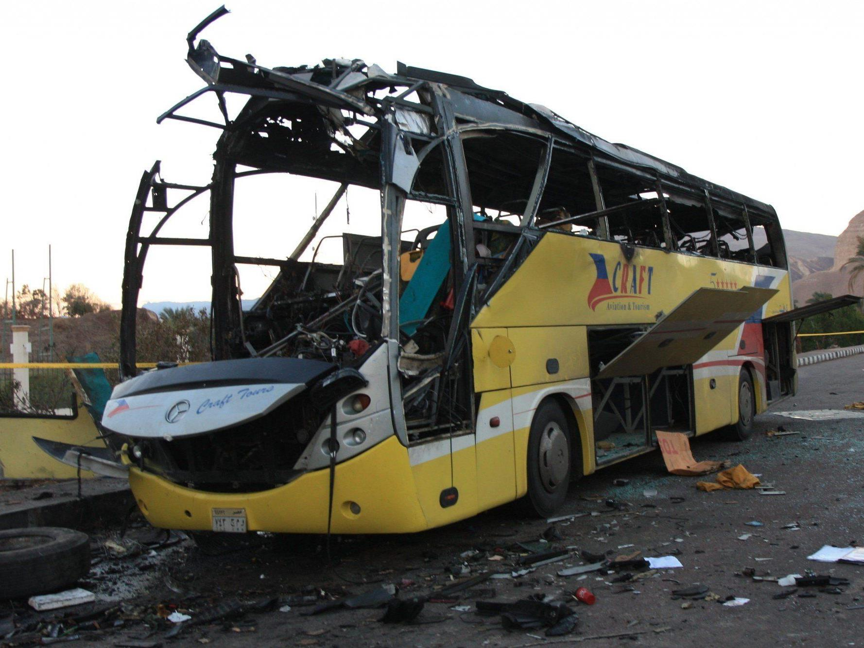 Die Islamistengruppe Ansar Beit al-Maqdis bekannte sich zu den Anschlägen auf einen Touristenbus.