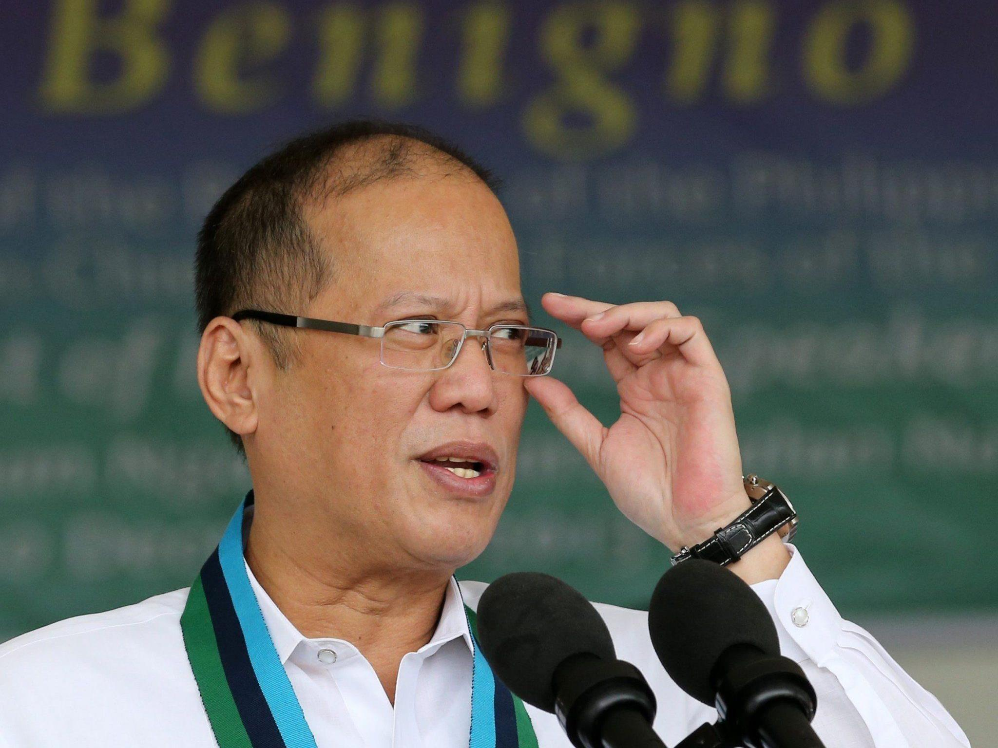 """Chinesische Nachrichtenagentur: Aquino (Bild) als """"amateurhafter Politiker entlarvt""""."""