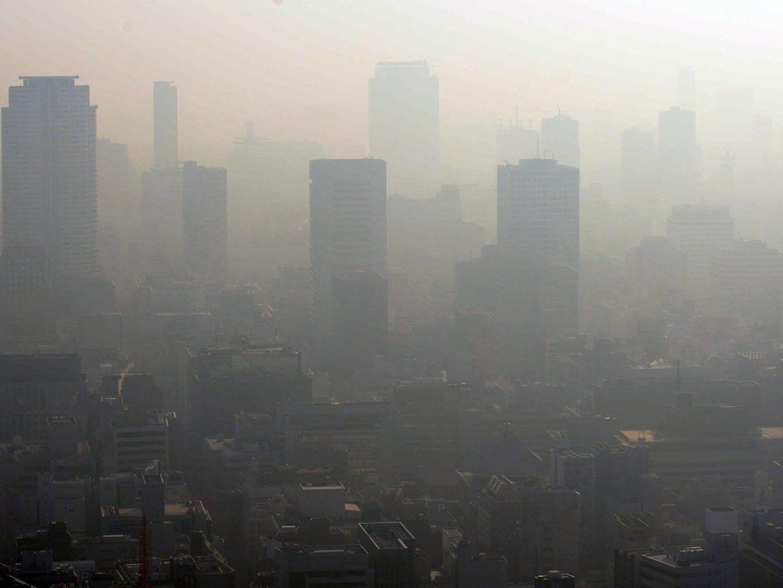 Die Smogwerte in China gingen dank Wind und Regen etwas zurück.