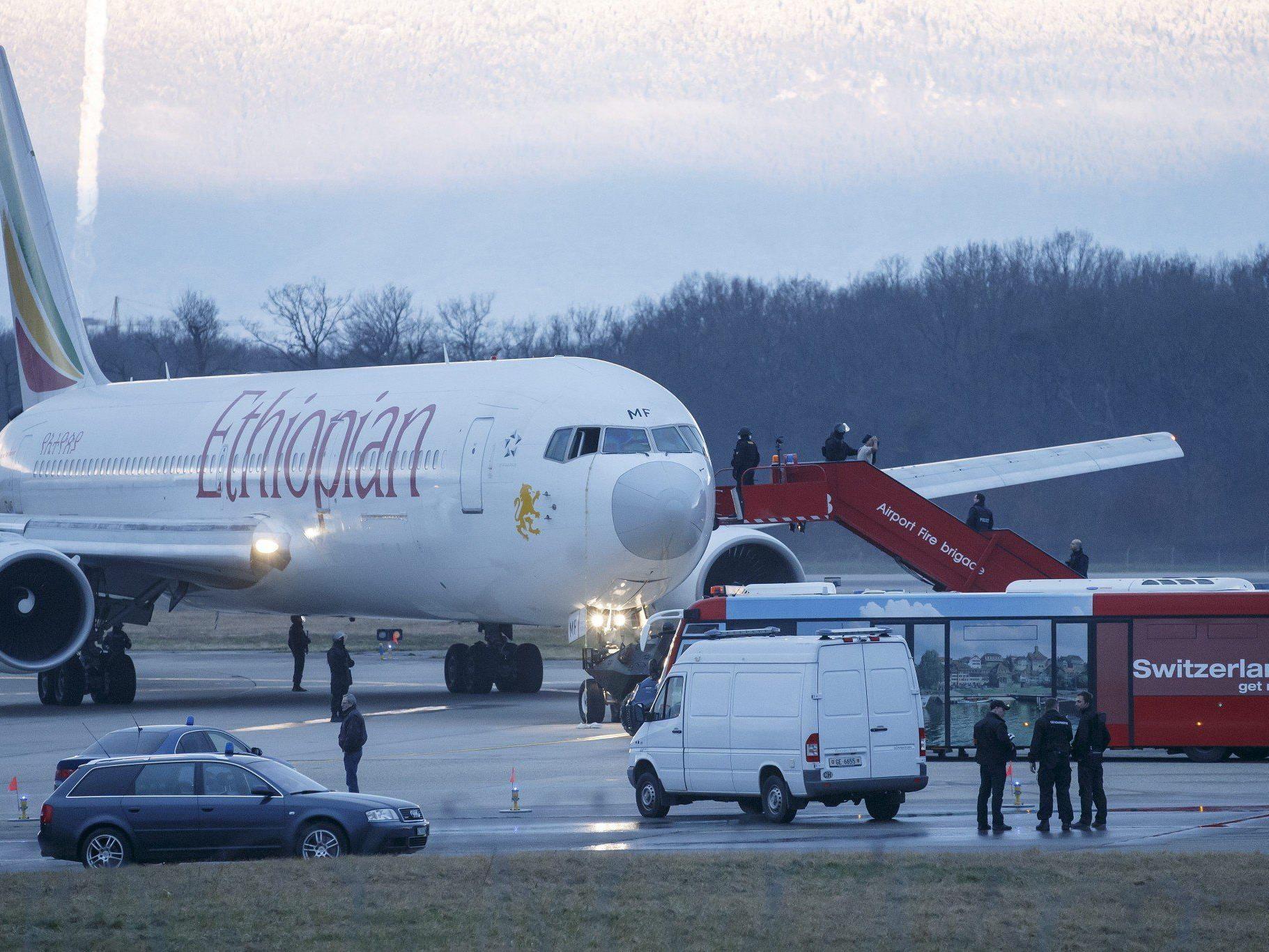 Flugzeug nach Genf entführt und zur Landung gezwungen