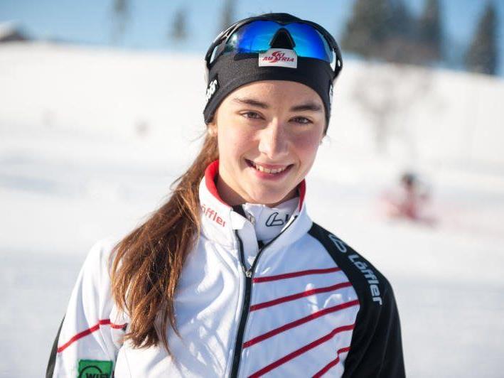 Die Schwarzenbergerin Jasmin Berchtold war bei den Jugendspielen im Einsatz.