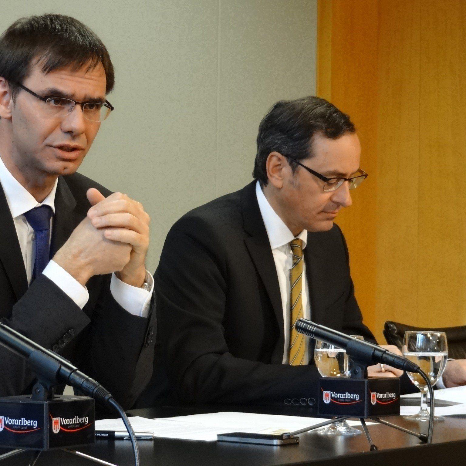 Landeshauptmann Wallner und Vorstandsvorsitzender Grahammer sehen die Bank bestens aufgestellt.