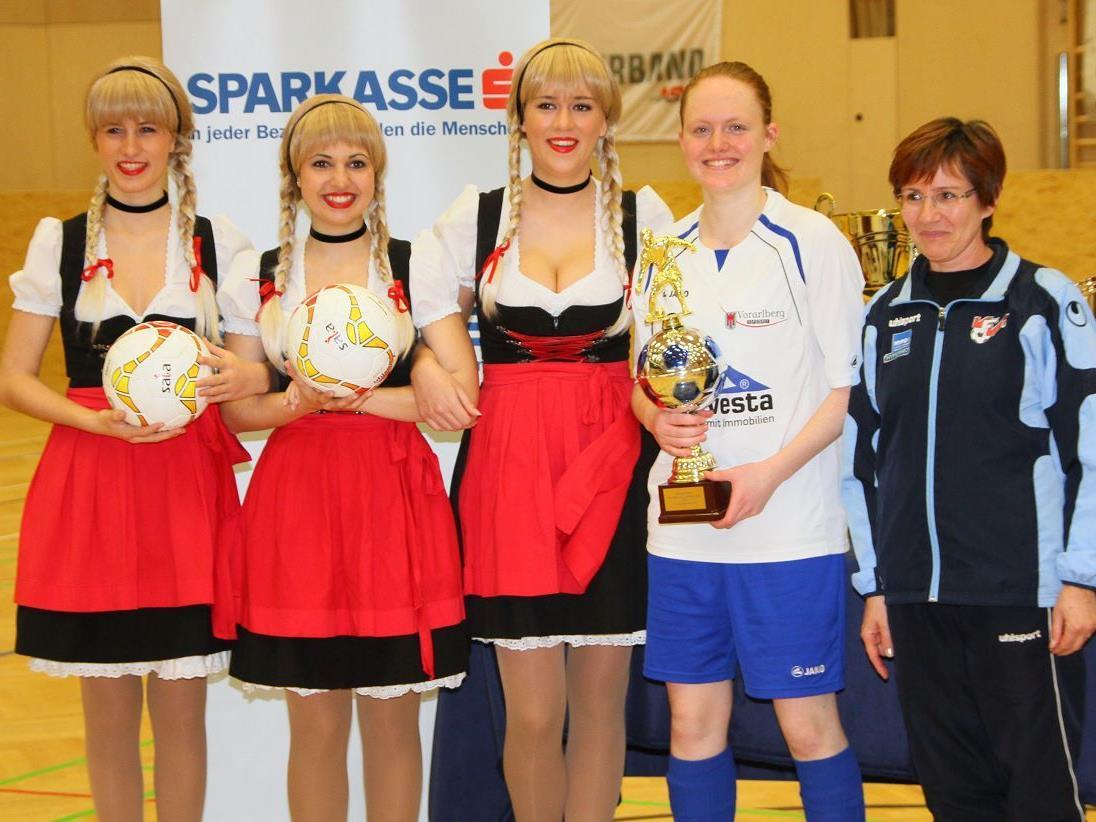FFC Vorderland Kickerin Hanna Weiss wurde beim Damenmasters in Feldkirch zur besten Torschützin gewählt.