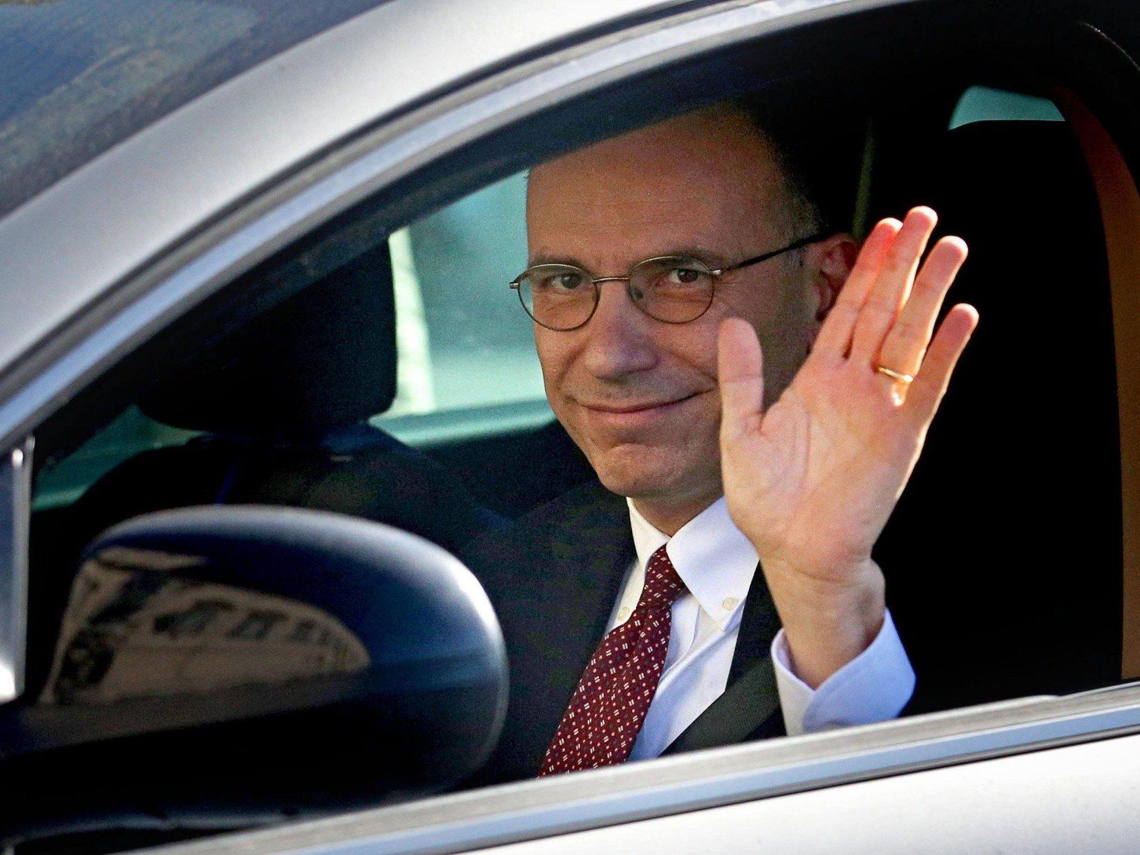 Amtszeit nach zehn Monaten zu Ende: Enrico Letta reichte Rücktritt ein.