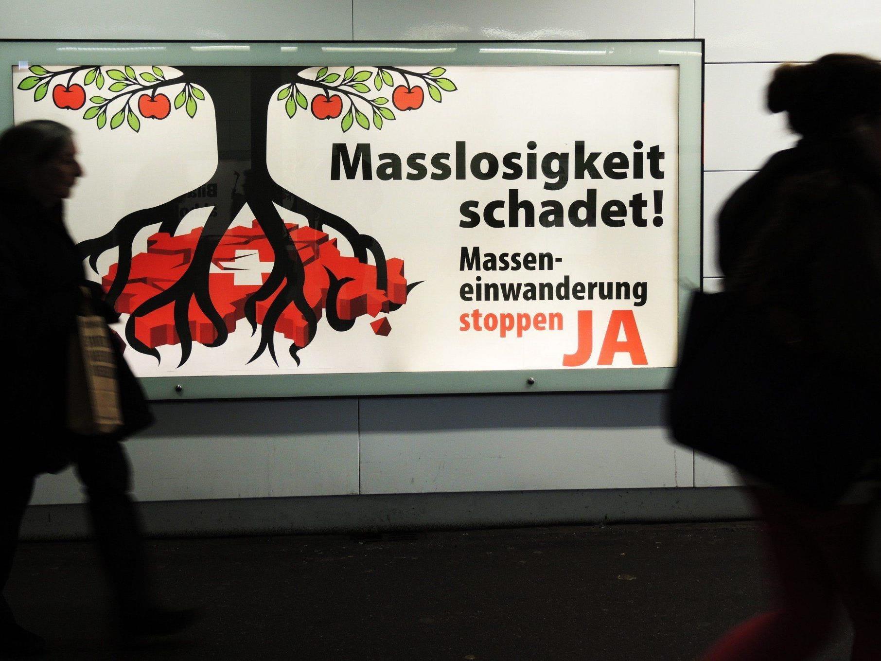 """Am 9. Februar stimmen die Eidgenossen über eine Volksinitiative """"gegen Masseneinwanderung"""" der national-konservativen Schweizerischen Volkspartei (SVP) ab."""