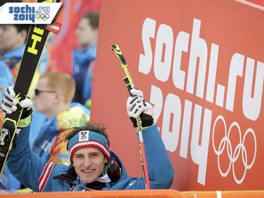 Der erste Sieg in der Abfahrt und dann gleich bei Olympia - Matthias Mayer wird nichts dagegen haben.