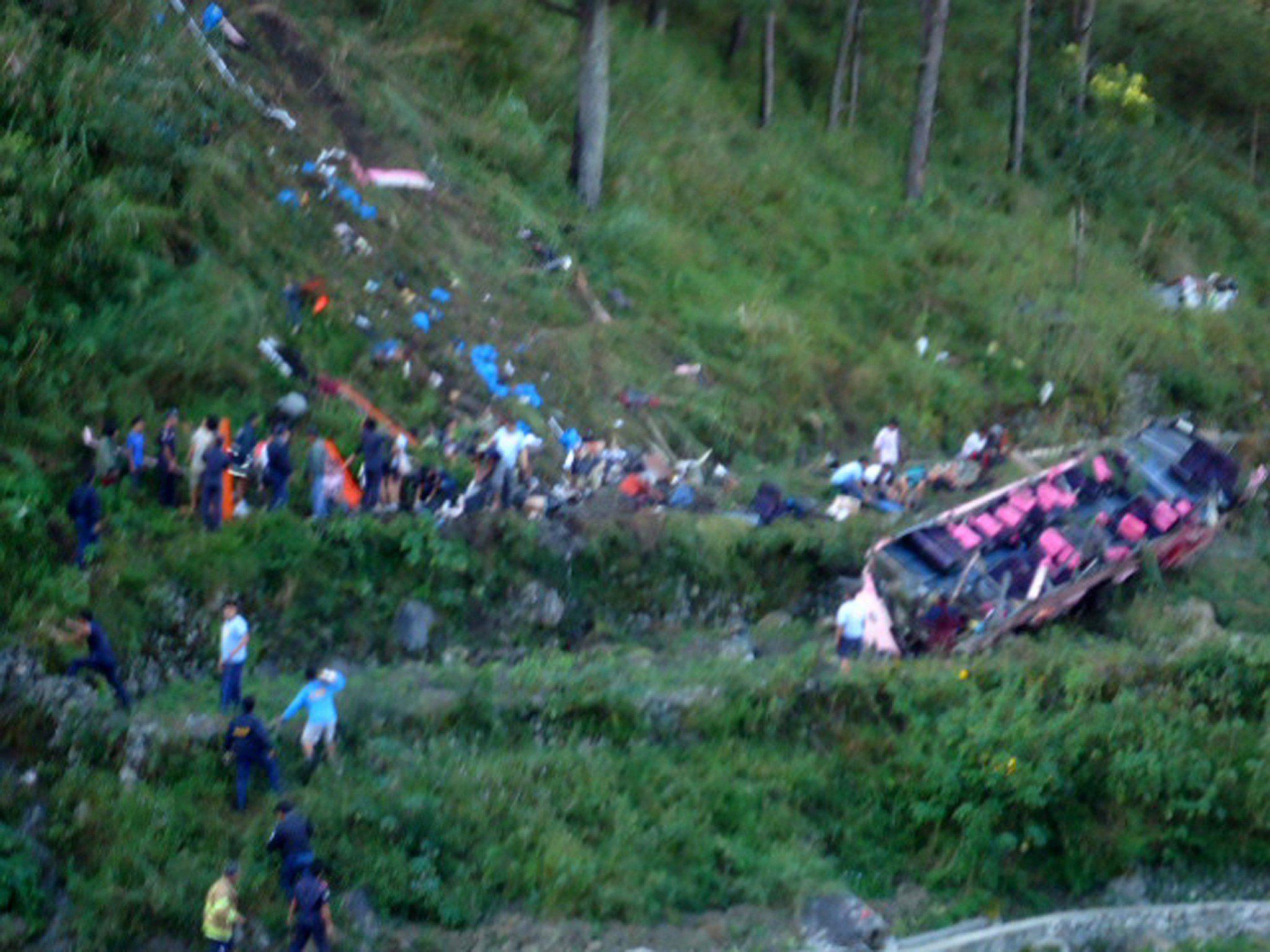 Der Bus mit dem Vorarlberger Studenten stürzte in eine 500 Meter tiefe Schlucht ab.