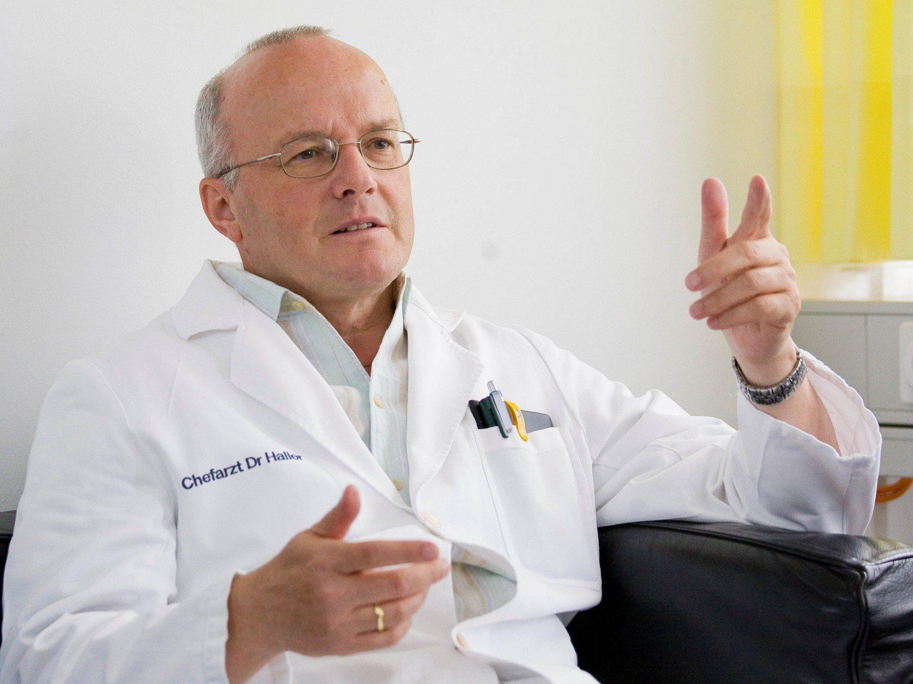 Haller-Kritik an Substitutionstherapie.