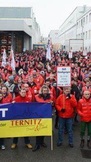 Streik bei KBA in Mödling.