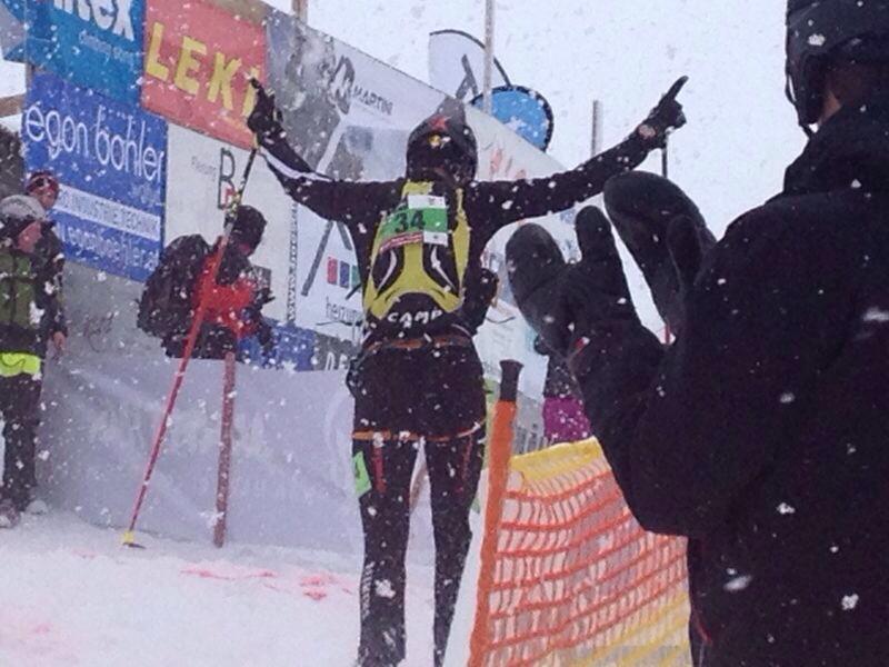 Der Bludescher Patrick Innerhofer gewinnt den fünften Martini Niederelauf in Andelsbuch.