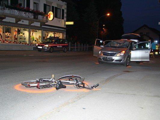 Der Unfallort in Lustenau.