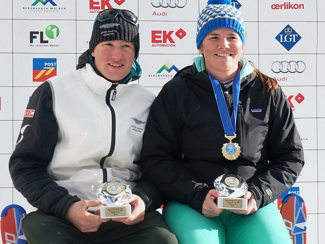 Die Dornbirnerin Stefanie Klocker wurde Europameisterin im Short Carven.