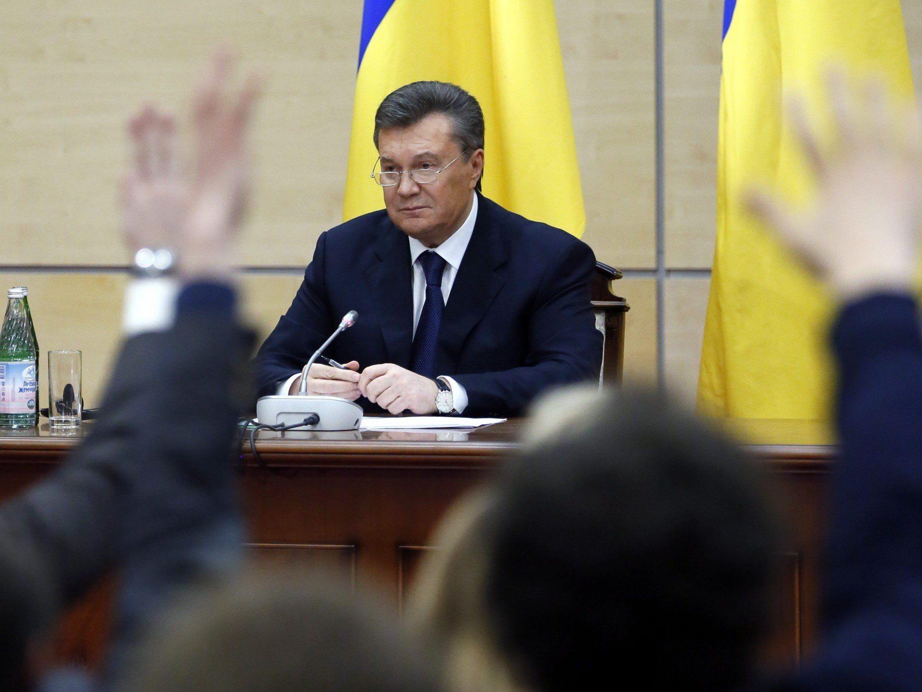 Gestürzter Präsident der Ukraine, Viktor Janukowitsch, wirft Westen Wortbruch vor