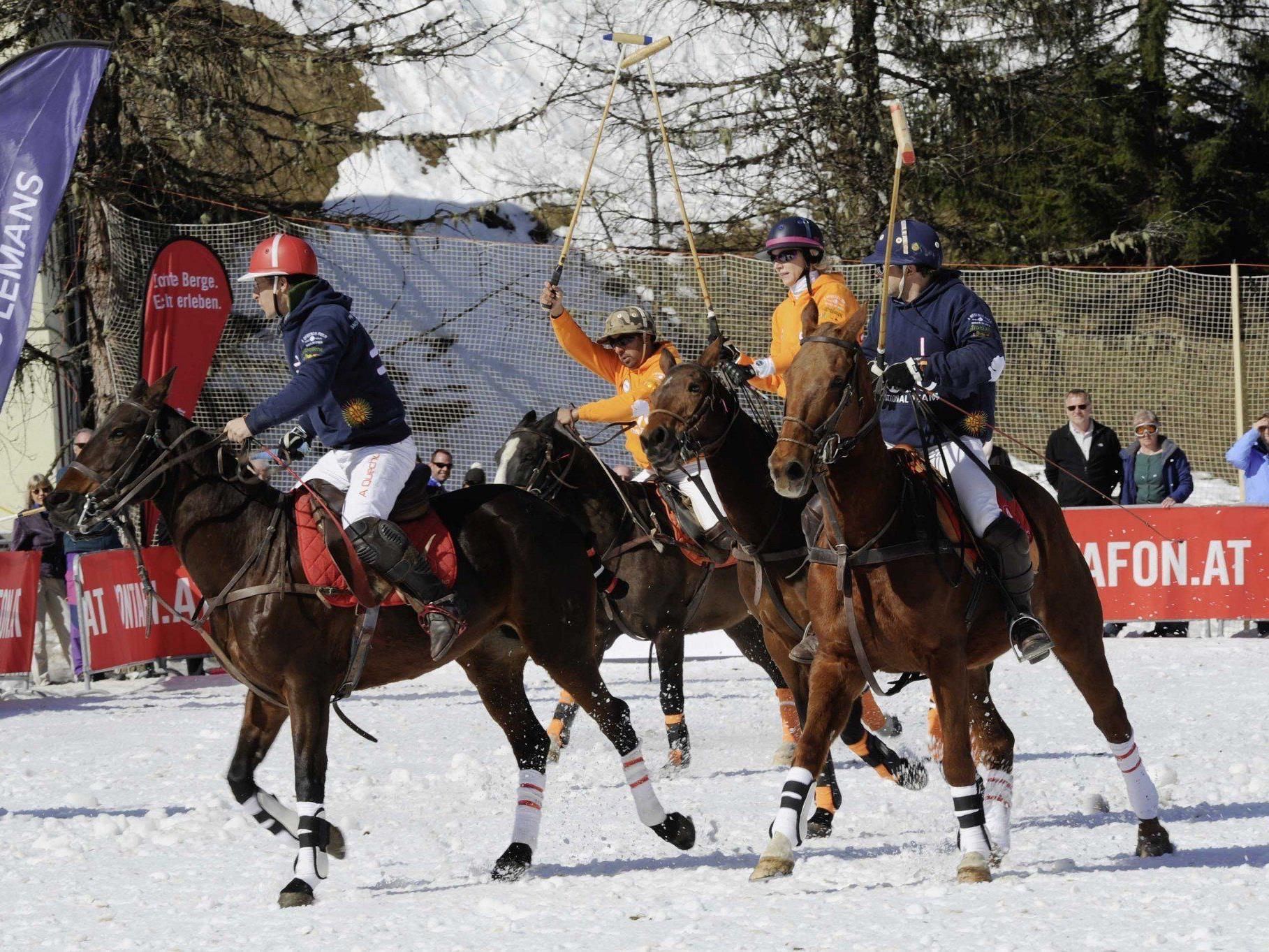 Tolle Stimmung während der Premiere zur Snow Polo Europameisterschaft in Gargellen
