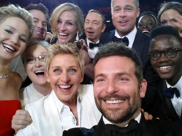 """86. Oscars: Spontanes """"Selfie"""" von DeGeneres war bezahlte Werbung"""