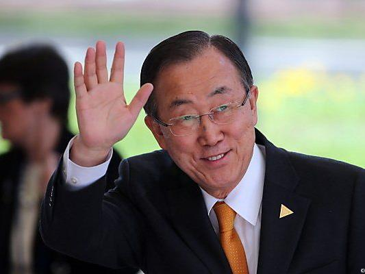 UNO-Generalsekretär Ban Ki-moon in Den Haag