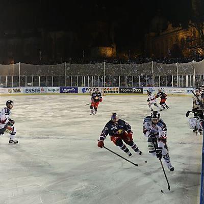 Freiluftspiel Fehervar - Salzburg im Dezember