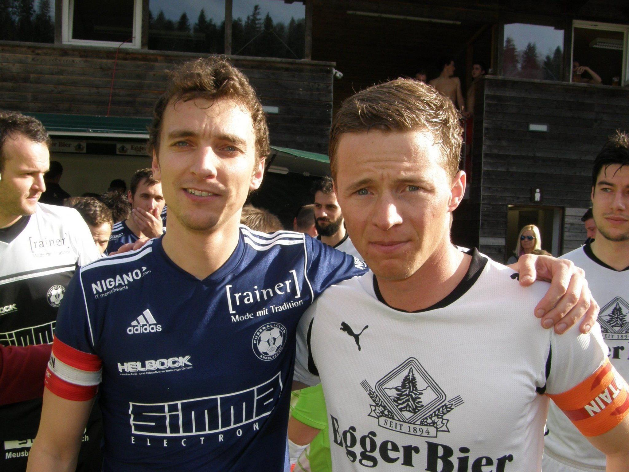 Die Kapitäne Rene von der Thannen und Elias Meusburger.
