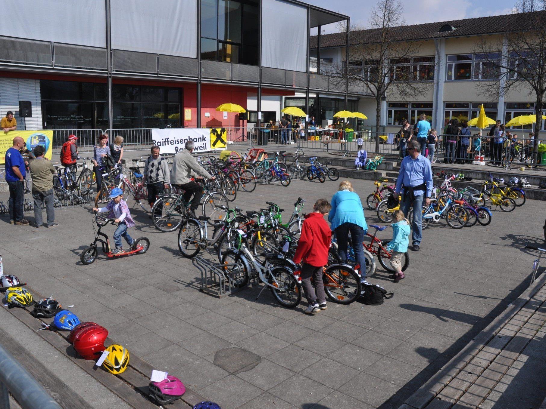 Beim diesjährigen Radmarkt können Gebrauchträder verkauft und günstige Räder ergattert werden