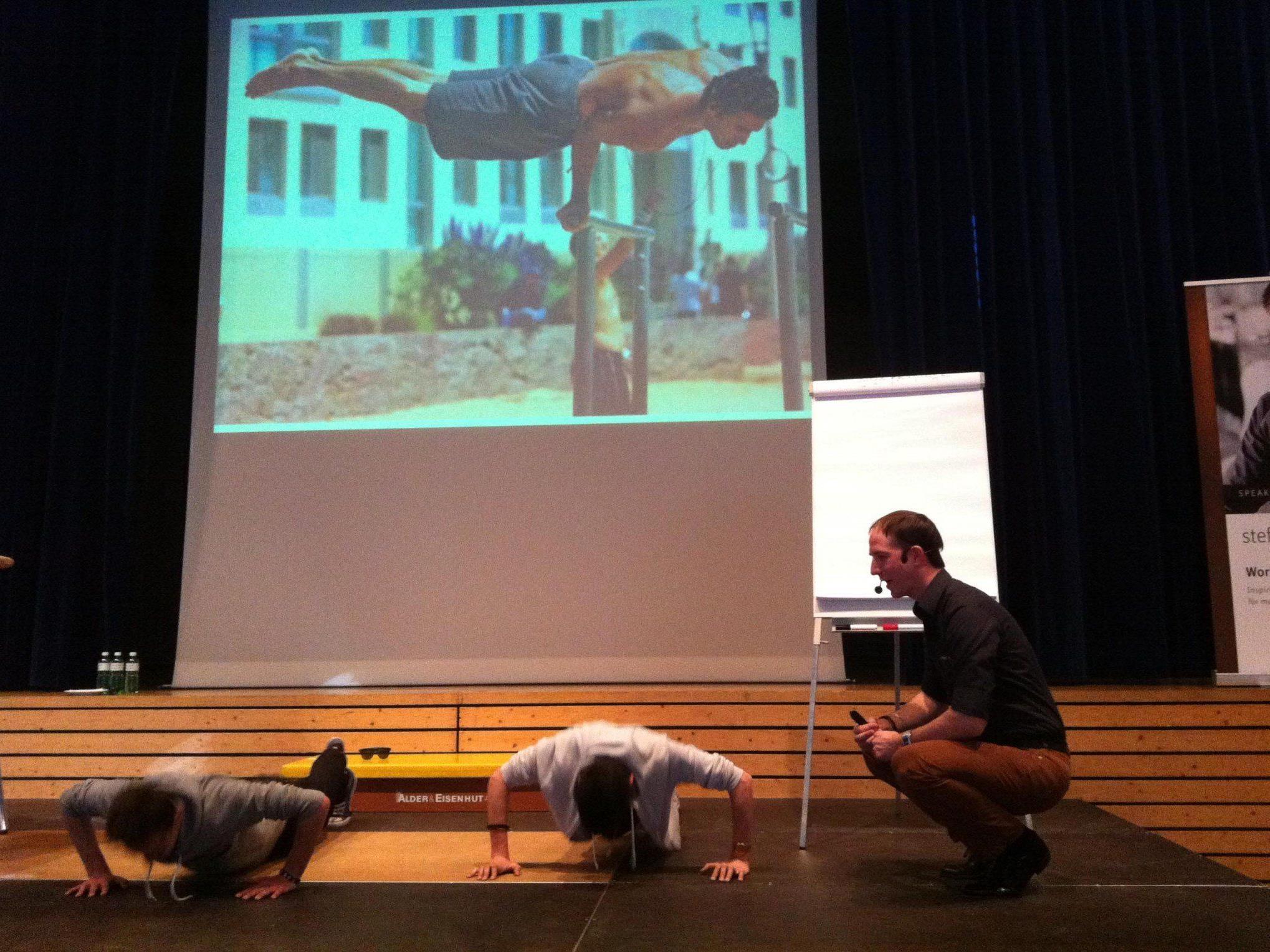 Mentalcoach Steffen Kirchner wusste die 14- bis 17-jährigen Schüler anzuspornen und zu motivieren