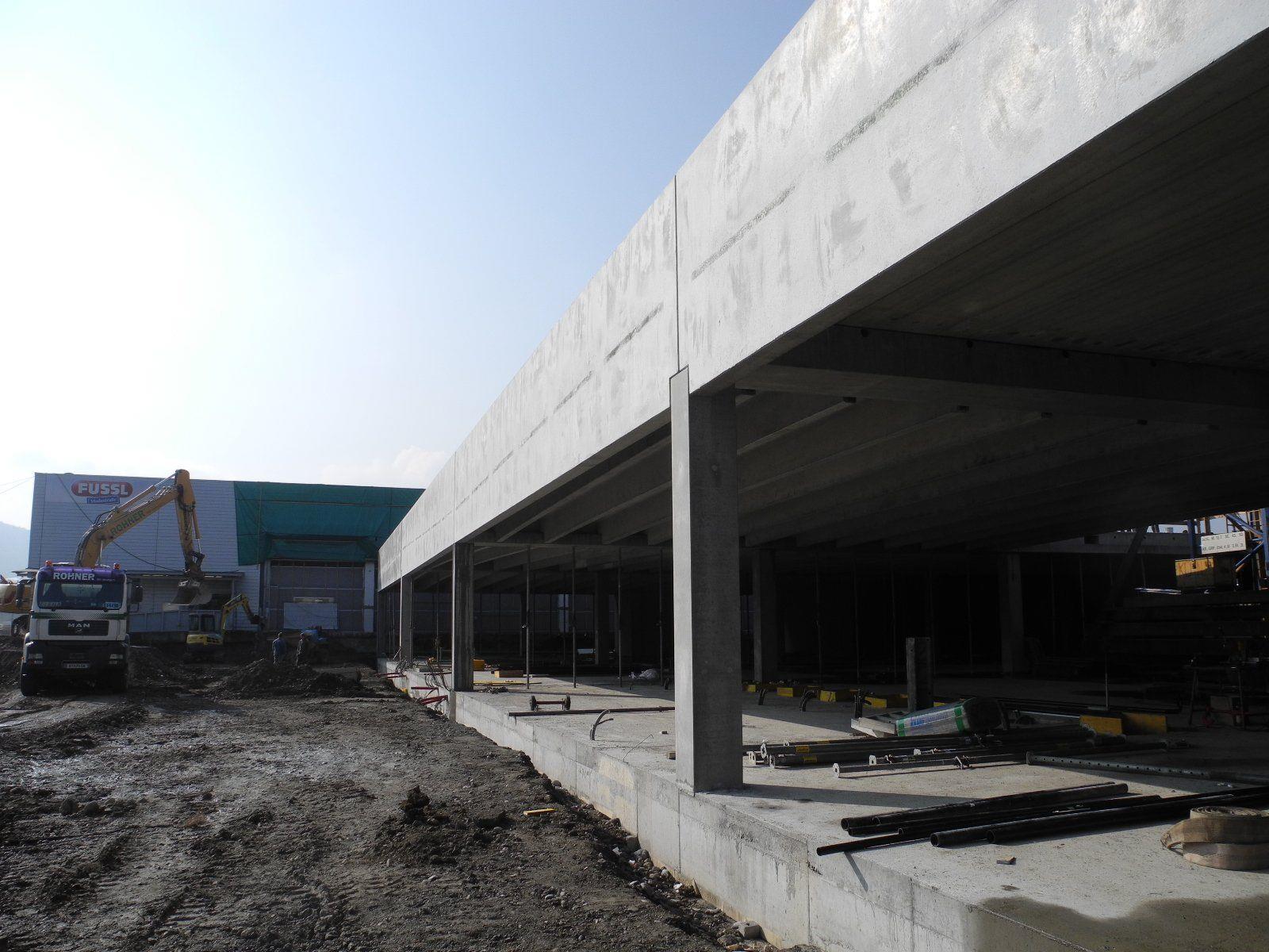 Der neue Merkur Markt in Rankweil-Brederis ist unter Dach
