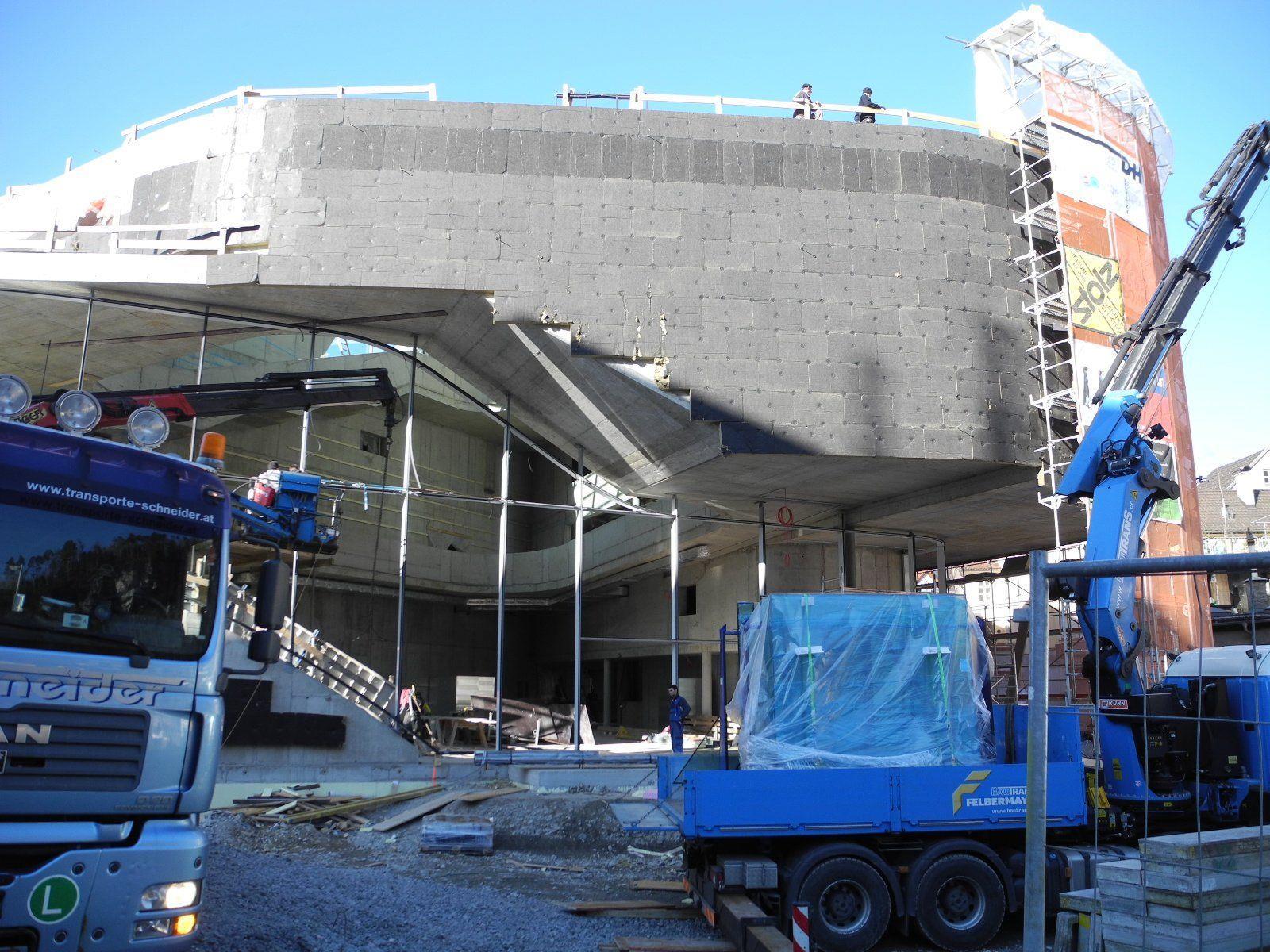 Montforthaus Kultur. Kongress. Zentrum, ein neues Wahrzeichen von Feldkirch ist im Entstehen