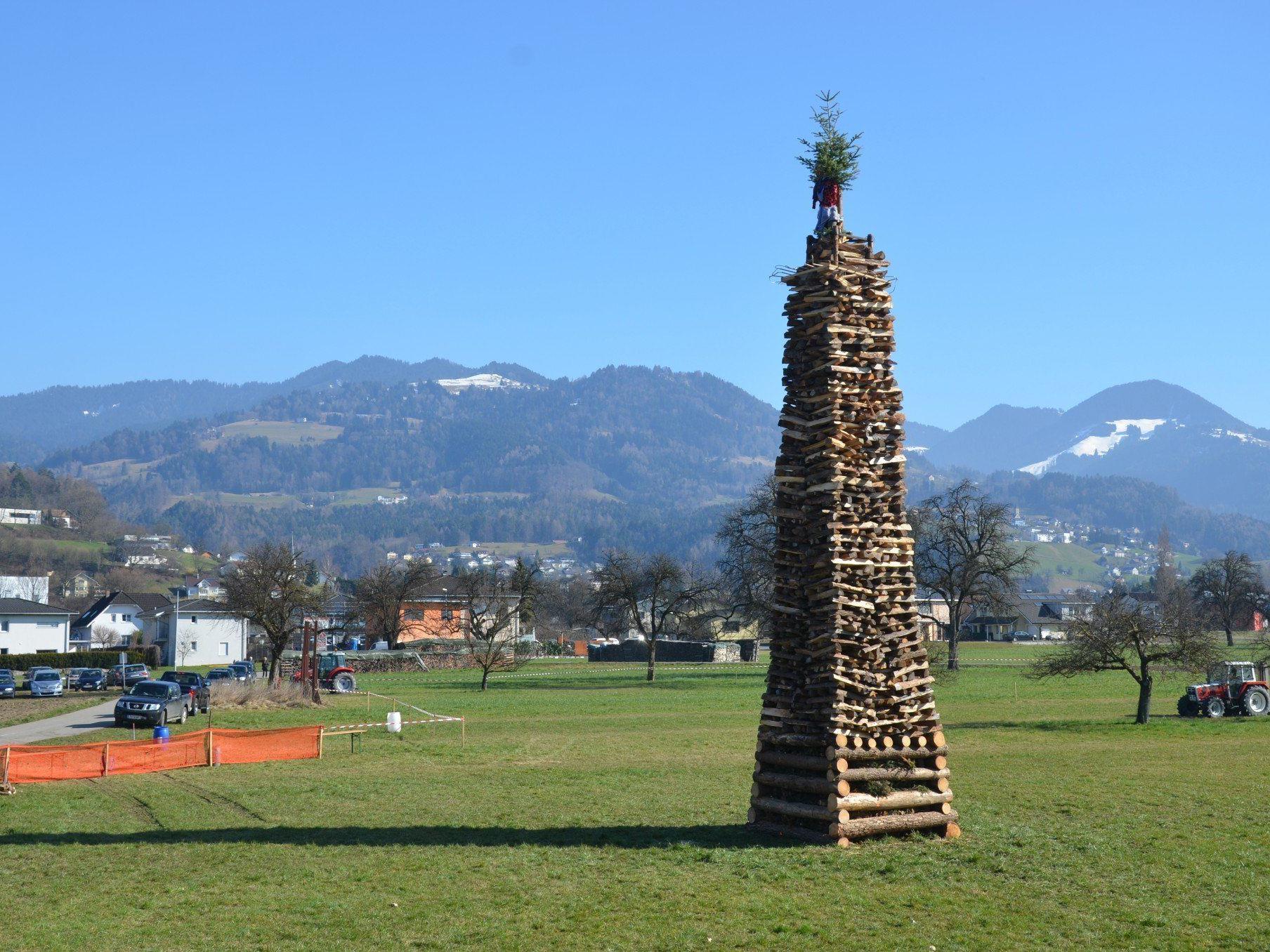 Der Röthner Funken lockte viele Fans in die Vorderlandgemeinde.