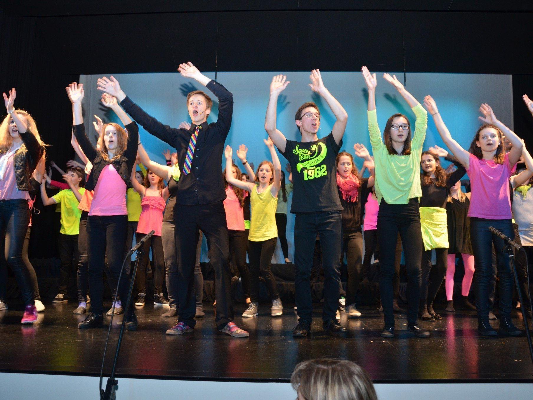 Die jungen Gesangstalente der Musikschule Rankweil - Vorderland begeisterten das Publikum mit ihrer Show.