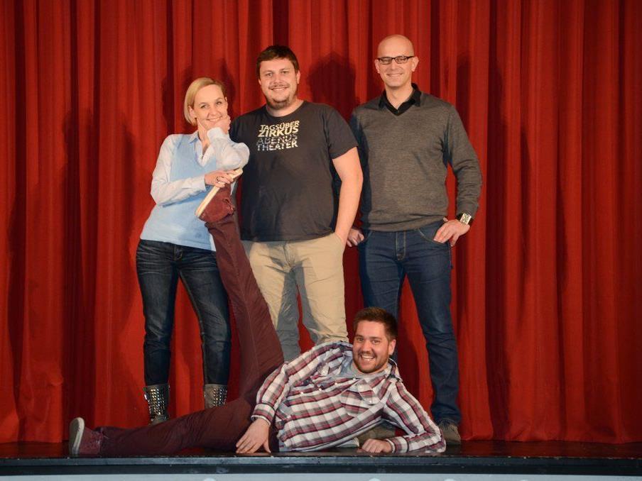 Das MUVO-Team: David Kieber, Heike Montiperle, Martin Weinzerl und Christian Zver.