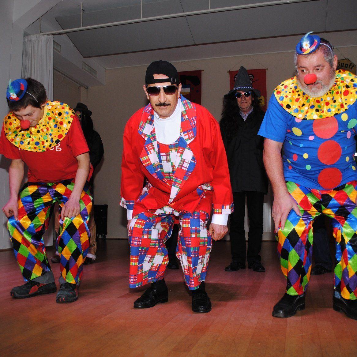 Die Clowneinlage vom Kameradschaftsbund