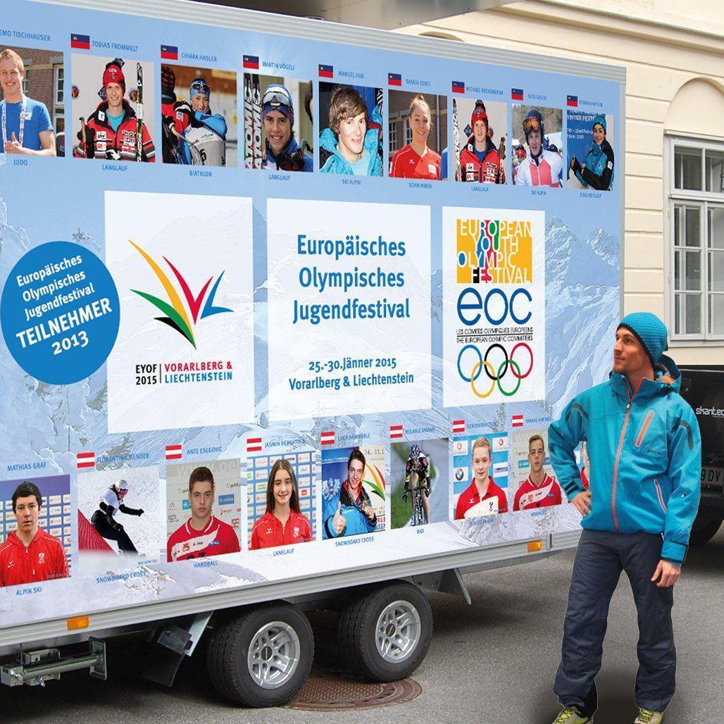 Das Street Team wirbt am Montag beim Ländlederby in Altach erstmals für die Jugendspiele.