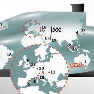 Der Formel-1-Rennkalender 2014.